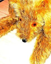 Mid Century Jumbo Plush Dog Puppy Orange Eyes Thick Seams Knickerbocker Plush