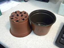 100 4 Inch Terracotta Plastic-African Violet/Streptocarpus-Azal ea Pots