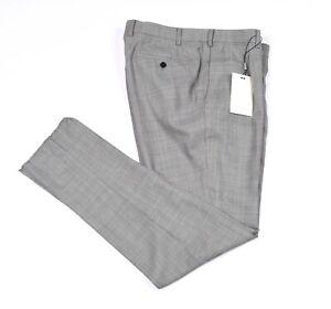NEW Lazio Suit Supply Men Gray Flat Front Wool Career Dress Pants Size 24