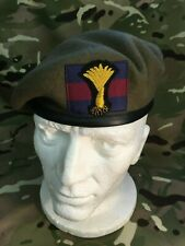 Quality Welsh Guards Officers Beret & Guards Bullion Badge + Guards Flash