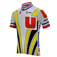 1989 Laurent Fignon Super U Raleigh Cycling Jerseys Cycling Short Sleeve Jersey