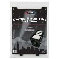 BCW Short Comic Book Bin Extra Partitions 3 Pack Dividers New Free US Shipping