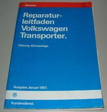 Werkstatthandbuch VW Transporter Bulli Bus T3 / T 3 Heizung Klima Stand 01/1987!