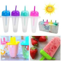 8 Ice Lolly Moulds Maker Ice Cream Popsicle Mold Stick Frozen Yogurt Icebox Cool
