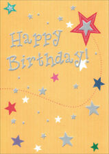 Yellow Birthday Stars Birthday Card - Greeting Card by Freedom Greetings