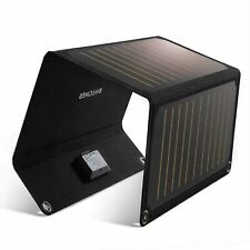 RAVPower Solar Charger 21W Solar Panel with Dual USB Port Waterproof Foldable