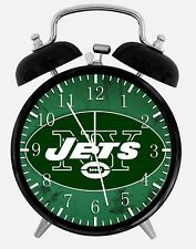"""New York Jets Alarm Desk Clock 3.75"""" Home or Office Decor W327 Nice For Gift"""