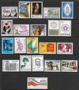 BELGIUM - 20 x MNH Singles - 1975/76 Issues.  Cat £22