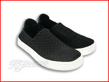 New Lady Round Toe J'S Awake Cute Platform Slip On Sneaker Black Woman Shoes