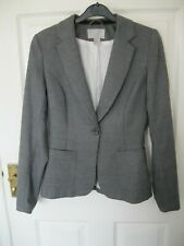 H&M SIZE 6 8 EUR 34 GREY BLAZER JACKET TOP smart work office formal tailored