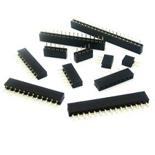 10PCS 2.54mm Pitch 12 Pin Female Single Row Straight Header Strip PH: 8.5mm M