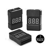 1x Pro 1-8S RC Lipo/'s Low Voltage Tester Monitor BB Buzzer Alarm Lipo/'s Checker