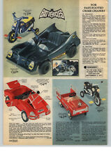 1977 PAPER AD Toy Batmobile Batcycle Bicycle Pedal Car Jaguar Batman