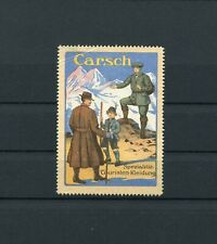Cinderella / Poster Stamps Carsch Touristen Kleidung Clothing Germany 1910's