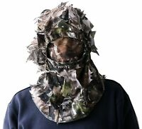 Tactical Camouflage Head Cover 3D Sneaky Leaf Cap Hat Full Face Mesh Mask Hunter