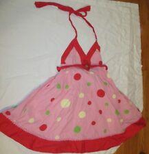 Lola Et Moi Dress Girls Size 12 Polka Dots Halter Chasing Fireflies Flower Pink