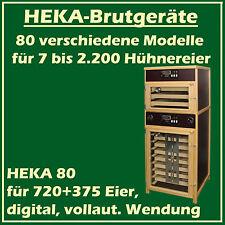 Heka 80 - fully-automatic egg-incubator avec séparé ECLOSOIR - for 720 + 375