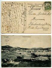 China Kiautschou 1912 PC Tsingtau Bismarckkasernen 2c pmk TAITUNGTSCHEN cds