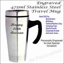 Custom Engraved Personalised Stainless Steel Travel Mug Thermal Flask Coffee Cup