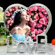 Personalized Wedding Cake Topper --- ViVi Photo Crystal  K 9116 Paperweight