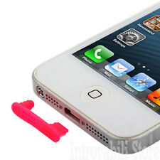 TAPPO ANTI POLVERE COPRI FORO CUFFIE E DOCK PER APPLE iPHONE 5 MAGENTA