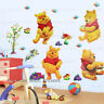 WINNIE THE POOH Wall Stickers Art Decal Transparent Kids Nursery Decor Removable