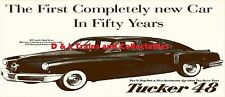 Billboard for Plasticville Holder Tucker Automobile 1948 The 1st  New Car