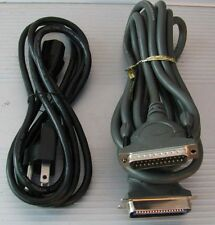 10 Foot Parallel PRINTER CABLE With POWER CORD for hp inkjet laserjet Dell Canon
