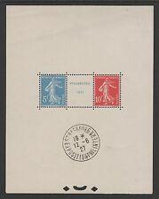 """FRANCE BLOC FEUILLET 2 a """" STRASBOURG 1927 """" NEUF xx AVEC CACHET EXPO. TTB K771C"""