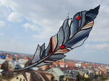 Stained Glass Suncatcher Baroque Feather Window Decoration Handmade