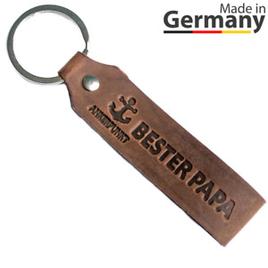 Schlüsselanhänger Leder Bester Papa Vatertagsgeschenk Geburtstag Papi Vater