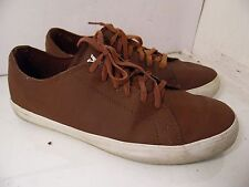 Supra Burgundy Leather Sneakers Low  Laces Mens  Size 13 EU 47.5