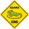 "*Aluminum* Iguana Crossing Funny Metal Novelty Sign 12""x12"""