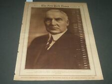 1920 NOV 7 NEW YORK TIMES ROTO SECTION - WARREN G. HARDING PRESIDENT - NT 7107
