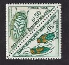 Central Africa 1962 sc#J2a postage due MNH pair-beetles