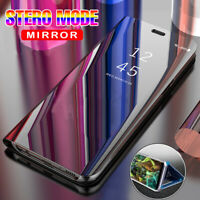 For Samsung Galaxy S7 Edge Smart Clear View Mirror Leather Flip Stand Case Cover