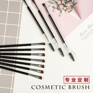 🇬🇧X 25pcs Of Shaping Duo Make up #12 Brush Angled Eye Brow &Makeup Brushes Uk