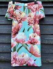 Joseph Ribkoff Bardot Aqua Floral Dress, Off Shoulder UK14 EU42 RRP£225 New+Tags