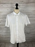 ARMANI Shirt - Size Large - Short Sleeved - White - Great Condition - Men's