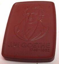 Meissen [ GOETHE ] Terracota Medalion [ J.W. Goethe ] Physicist { Biologist }