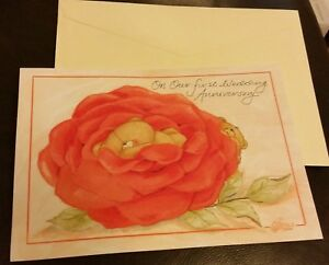 First Wedding Anniversary Forever Friends Andrew Brownsword  large card envelope