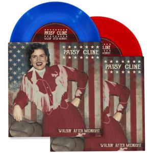 PATSY CLINE Walkin' After Midnight / Stop Look & Listen 7 in. Red or Blue Vinyl