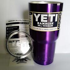 YETI 30 oz Rambler Violet Tumbler Cooler CUP Stainless Mug Coffee Free Ship
