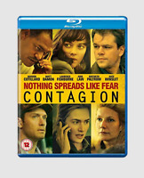 Contagion Blu-ray [Region Free] Kate Winslet, Matt Damon Thriller Movie - NEW