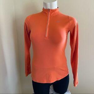 Nike element 1/4 zip fleece pullover orange sz.S