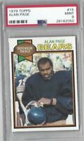 1979 Topps football card #15 Alan Page, Chicago Bears graded PSA 9 MINT