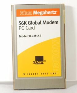 3Com Megahertz 56K Global GSM & cellular Modem PC Card. Model 3CCM156. Used.