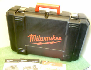 Milwaukee Carry/Storage Case + Manuals  For HD28 SX Cordless Reciprocating Saw