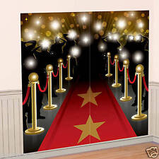 HOLLYWOOD PARTY AWARDS OSCARS RED CARPET STARS WALL SCENE DECORATION PHOTO PROP