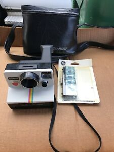 Vintage Polaroid  Camera Flash & Carrying Bag